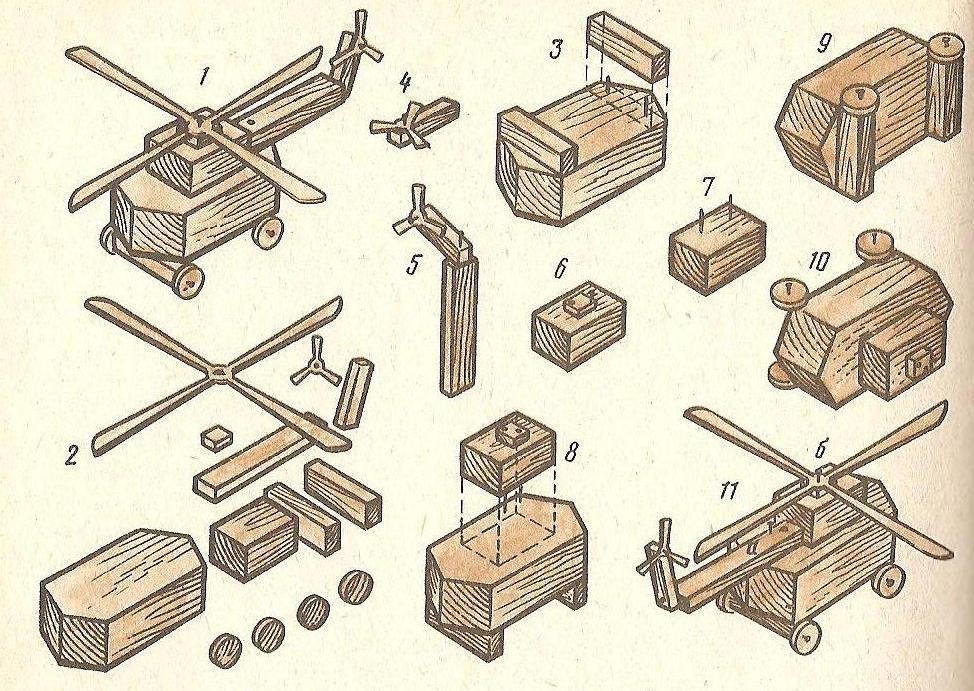 Поделки из дерева со схемами для начинающих