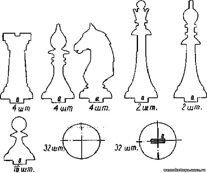 Сделать шахматную фигуру своими руками