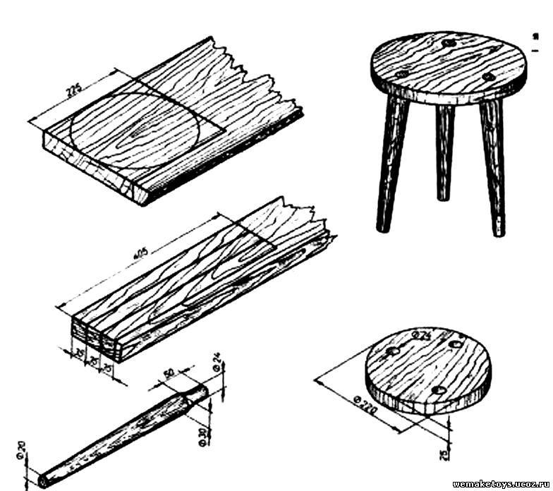 Чертежи поделок из дерева для школьников 46