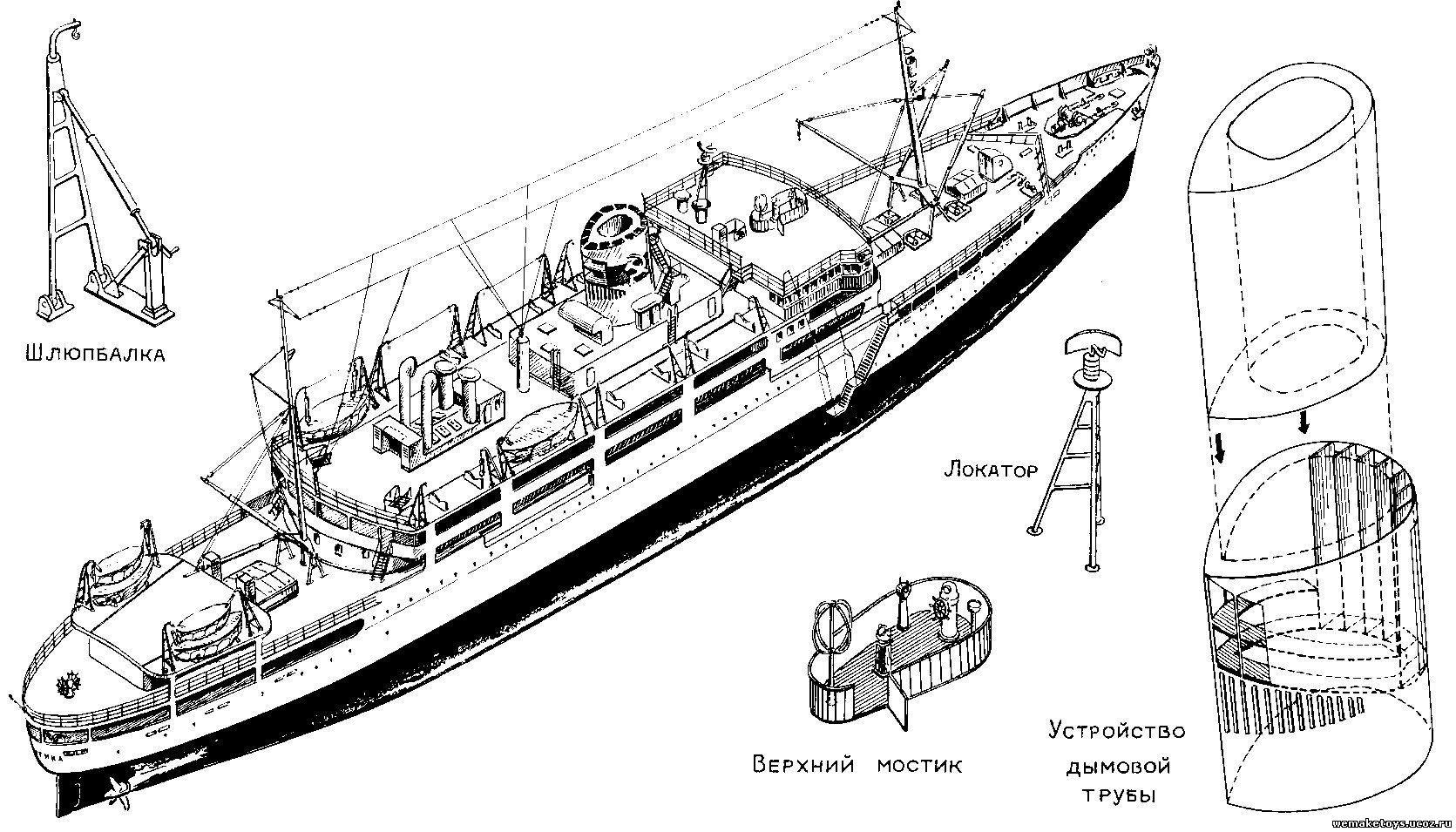 Модель яхта своими руками чертежи