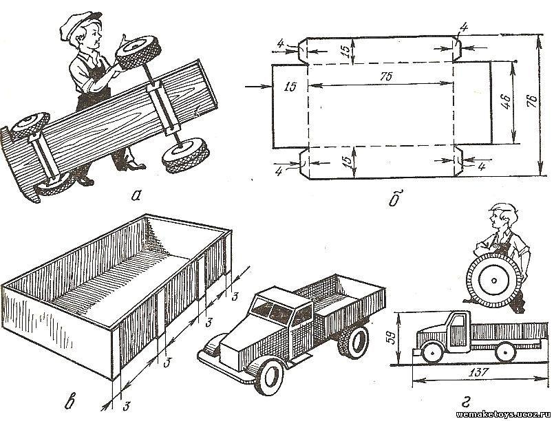 Как сделать из дерева машину своими руками
