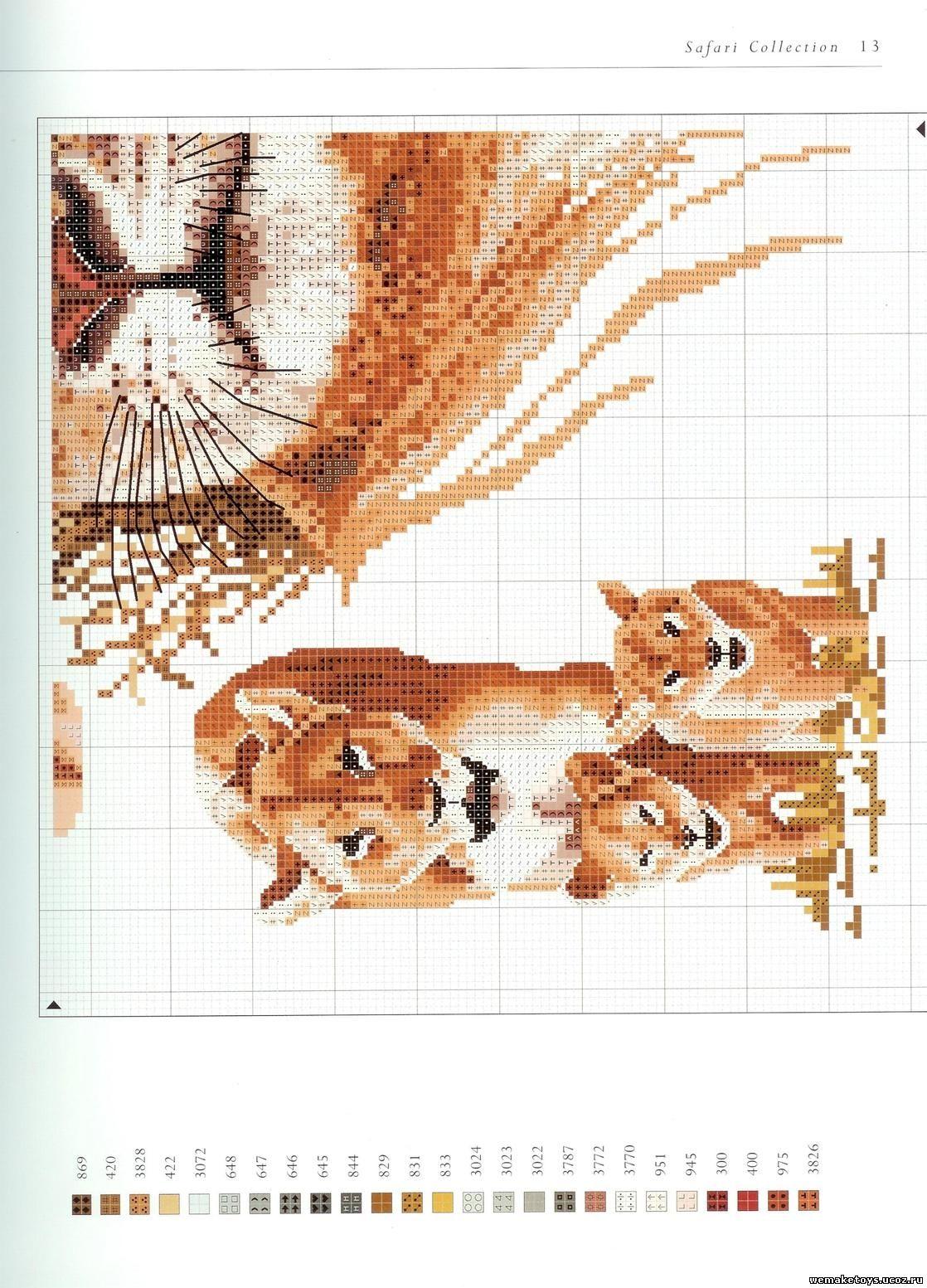 Объемная гладь, птицы и животные Рукоделие 60