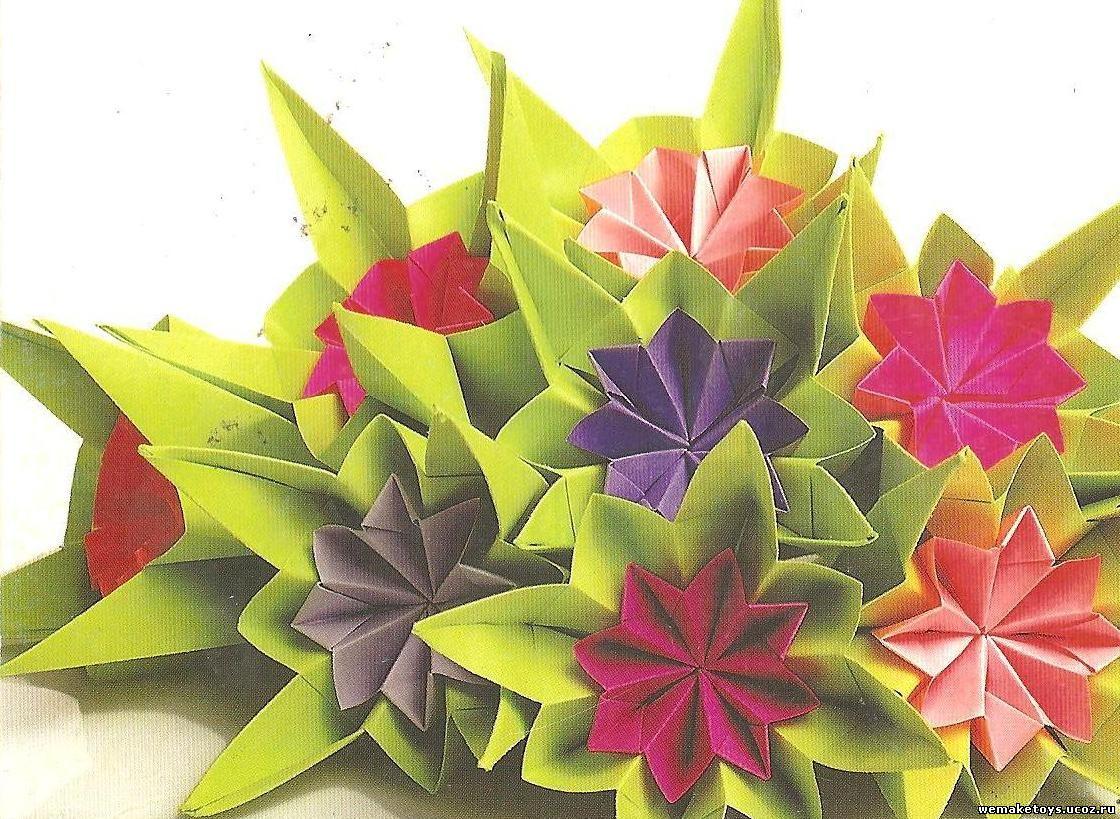 Фото цветов из оригами