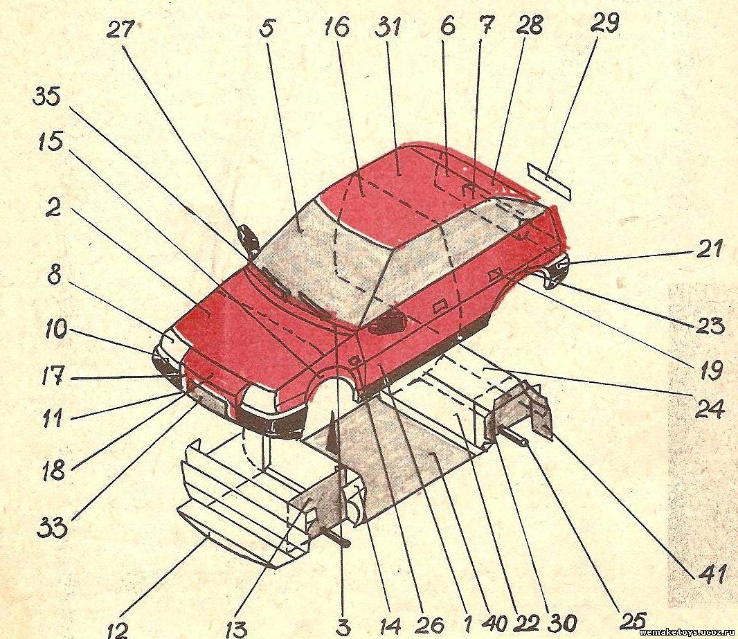 Машины из бумаги,чертежи машин из бумаги,развертки автомобилей из бумаги,развертки машин из бумаги.