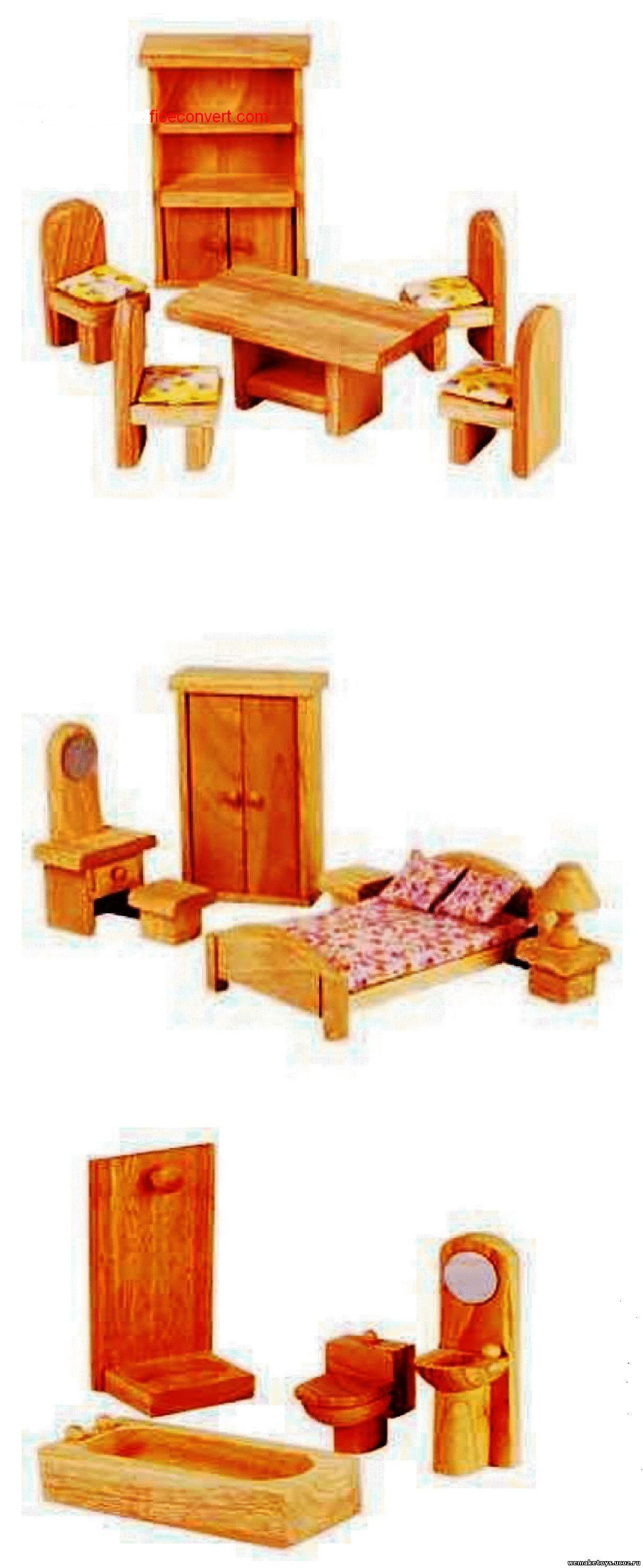 Игрушечная мебель своими руками схемы фото 14
