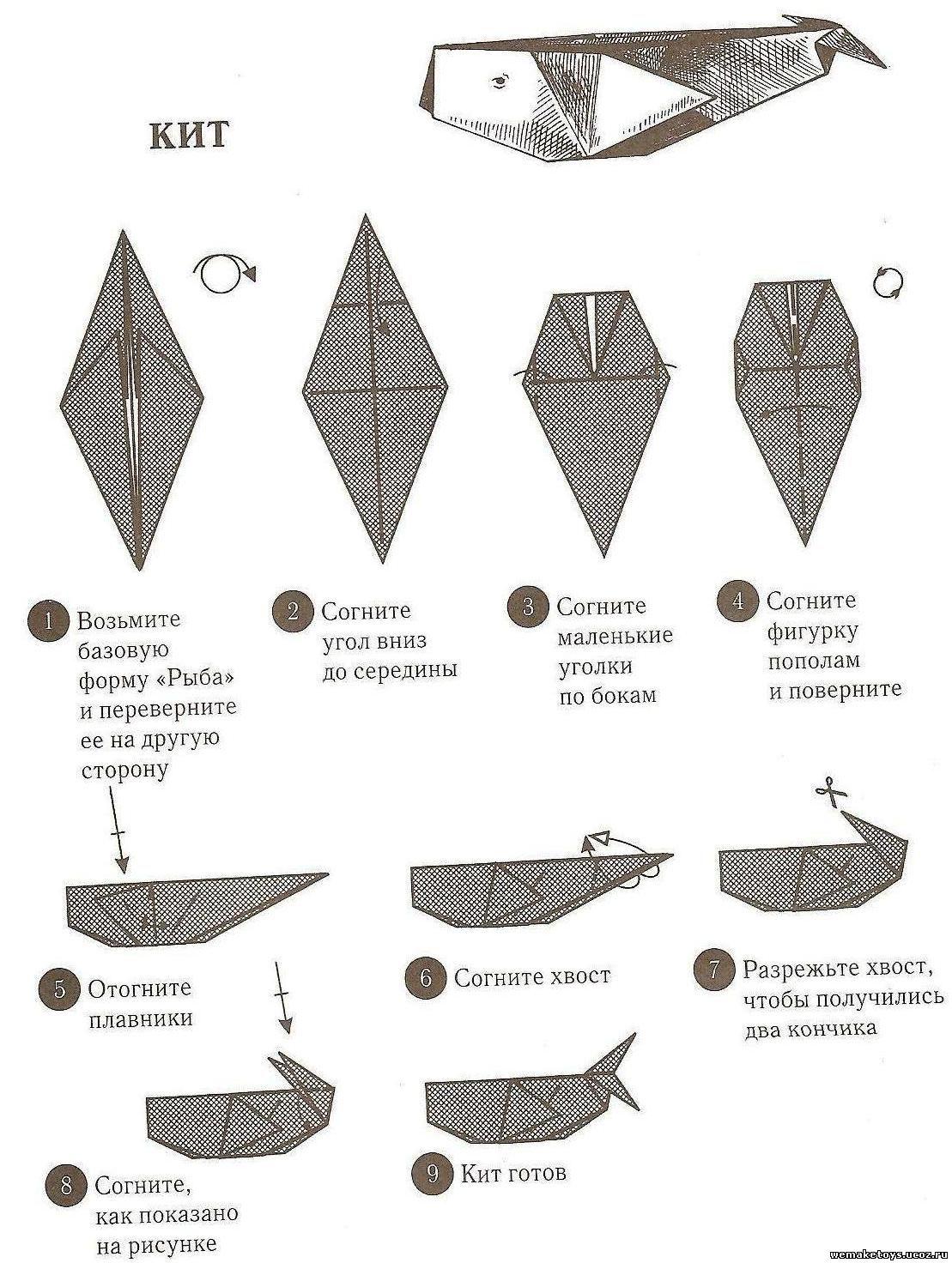Оригами из бумаги зайчик схема не оригами