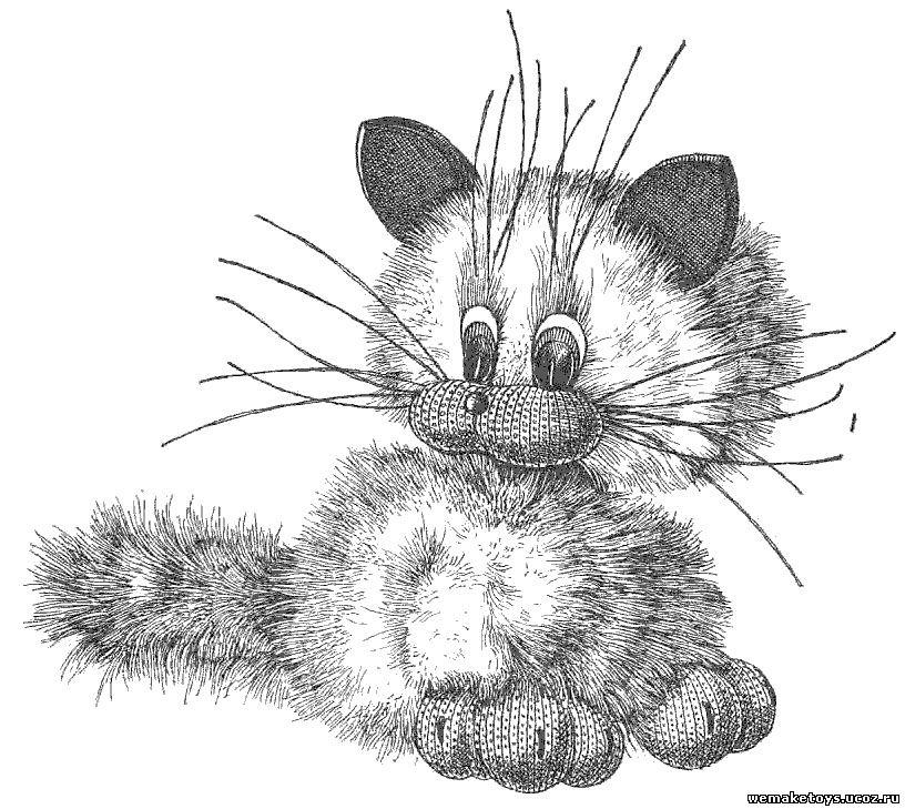 Мягкая игрушка кот Для того чтобы изготовить мягкую игрушку кошку своими руками,есть выкройки,схемы и...