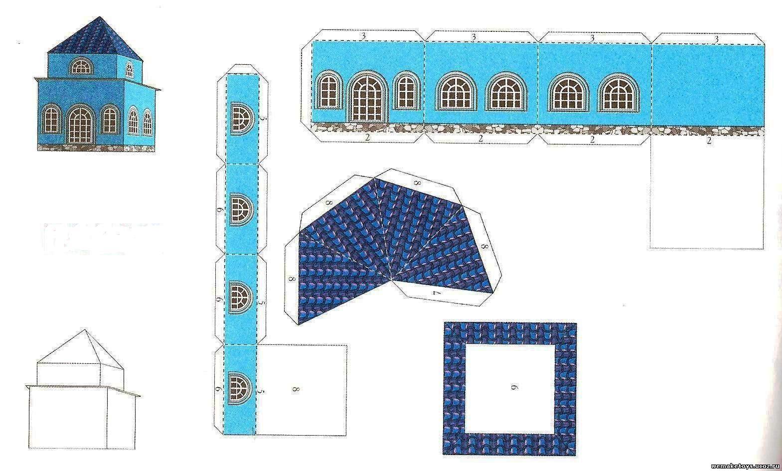 Макеты домов из бумаги своими руками для детей схемы