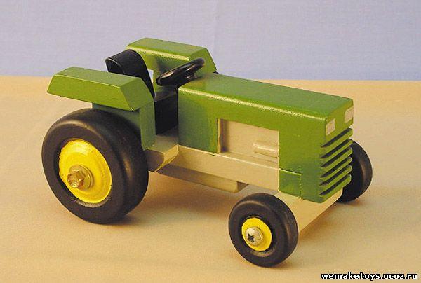 Трактора игрушечные своими руками